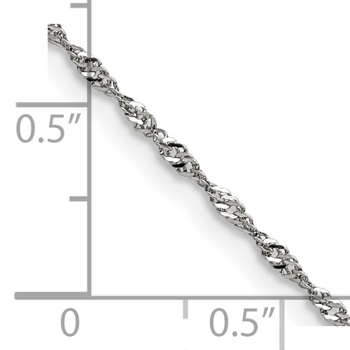 Chisel Stainless Steel 2.0mm 18 inch Singapore Chain