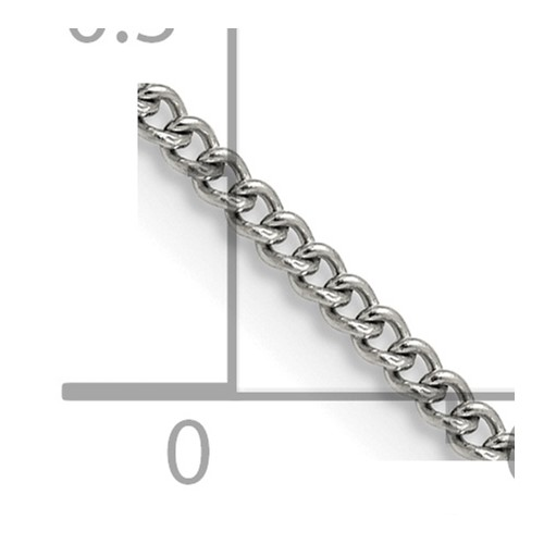Chisel Stainless Steel 2.25mm 22 inch Round Curb Chain