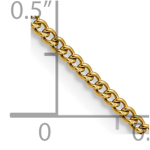 Chisel Stainless Steel Gold-plated 2.25mm 18 inch Round Curb Chain