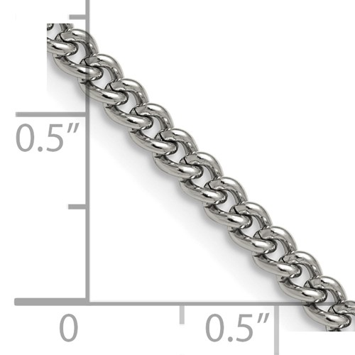 Chisel Stainless Steel 4.0mm 24 inch Round Curb Chain