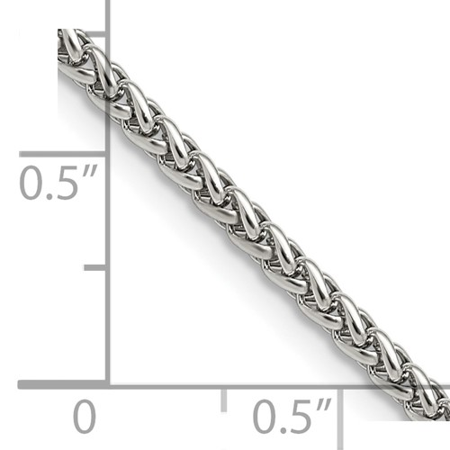 Chisel Stainless Steel 3.0mm Wheat 20 inch Chain