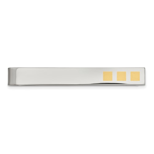 Chisel Stainless Steel 24k Gold-plated Tie Bar