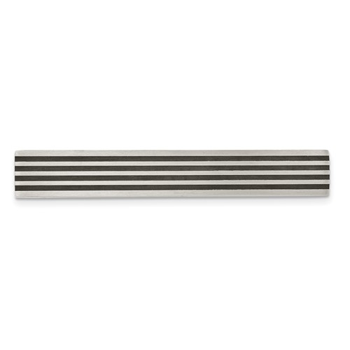Stainless Steel Brushed Black Rubber Tie Bar