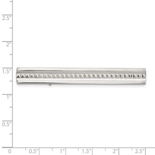 Stainless Steel Polished Studded Tie Bar