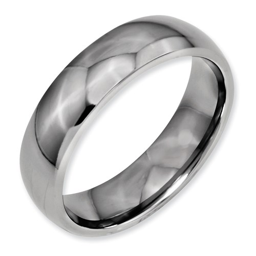 Chisel Titanium 6mm Polished Comfort Fit Wedding Band