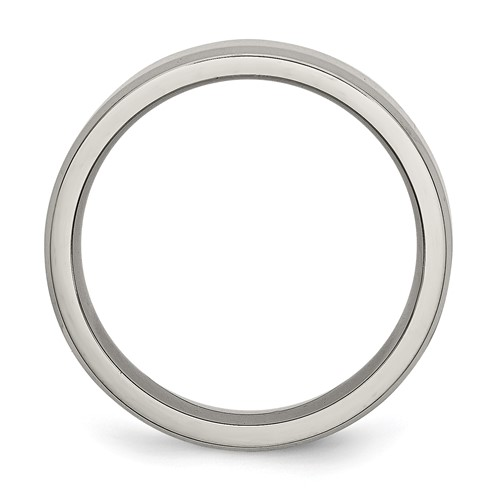 Chisel Titanium Beveled Edge 6mm Polished Band