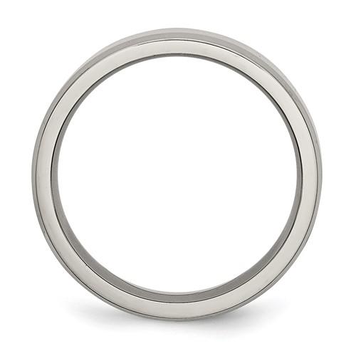 Chisel Titanium Beveled Edge 6mm Polished Band