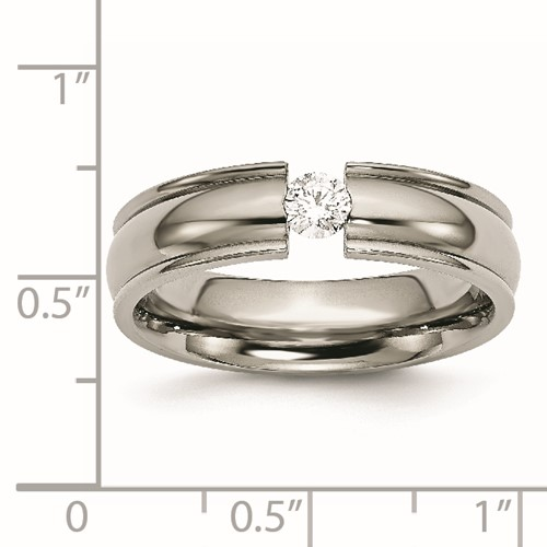 Chisel Titanium 6mm 0.25ct. Diamond Band