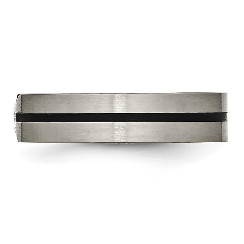 Chisel Titanium 0.33ct. Diamond 6mm Brushed Band