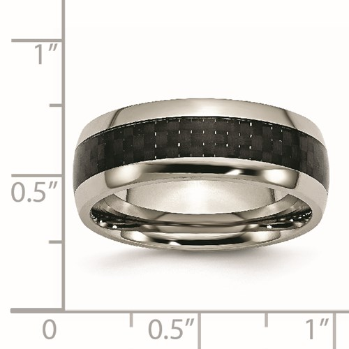 Chisel Titanium Carbon Fiber 8mm Polished Band
