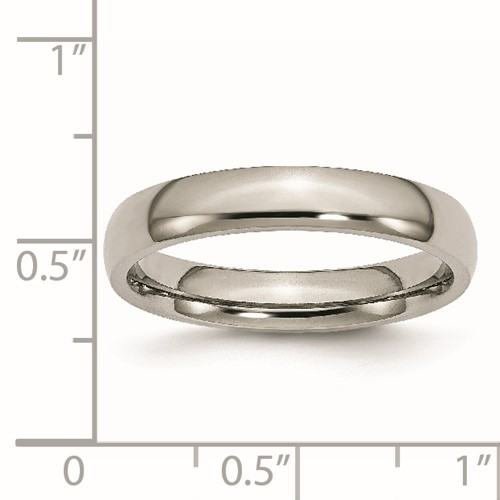 Chisel Titanium Polished Comfort Fit 4mm Wedding Band