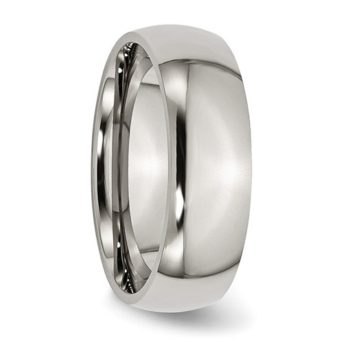 Chisel Titanium 7mm Polished Band