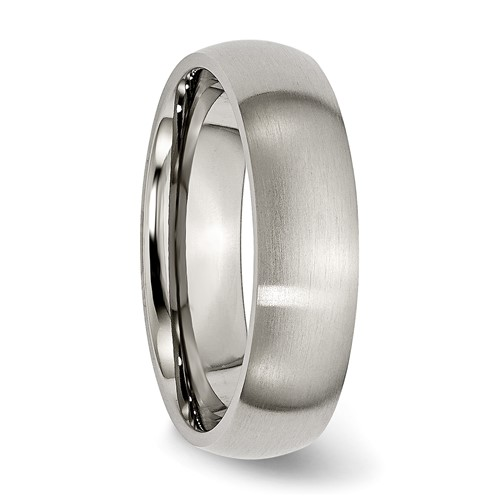 Chisel Titanium Brushed Comfort Fit 6mm Wedding Band