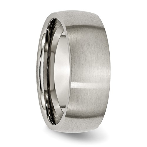 Chisel Titanium Brushed Comfort Fit Domed 8mm Wedding Band