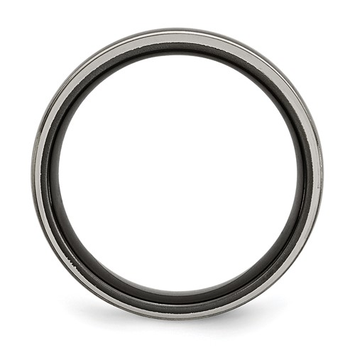 Chisel Titanium Two-tone 8mm Brushed and Polished Band