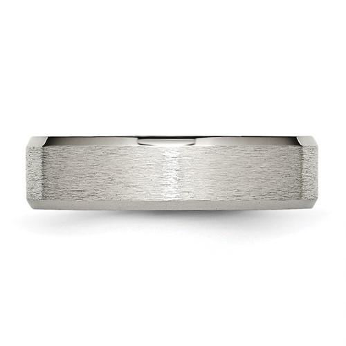 Chisel Titanium Beveled Edge 6mm Satin and Polished Band