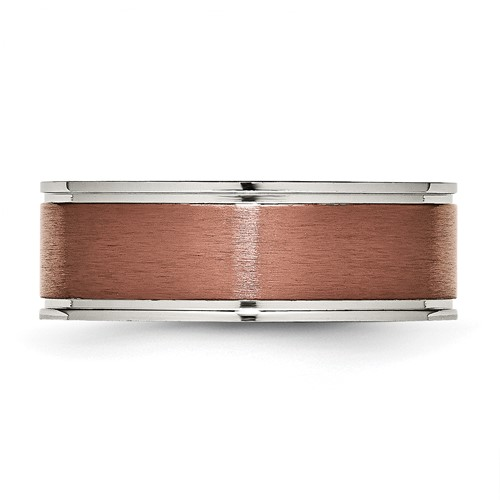 Chisel Titanium 8mm Chocolate Plated Band