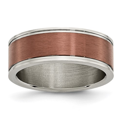 Chisel Titanium 8mm Chocolate Plated Band