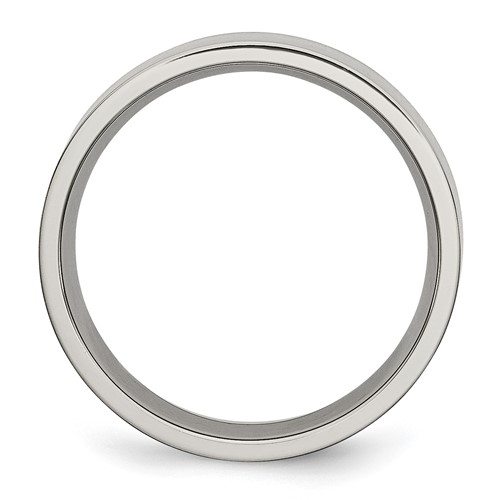 Chisel Titanium Brushed Flat 6mm Wedding Band