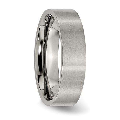 Chisel Titanium Brushed Flat 6mm Wedding Band