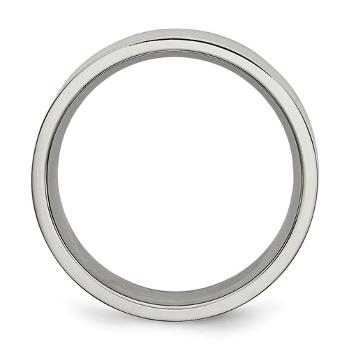Chisel Titanium Brushed Flat 8mm Wedding Band