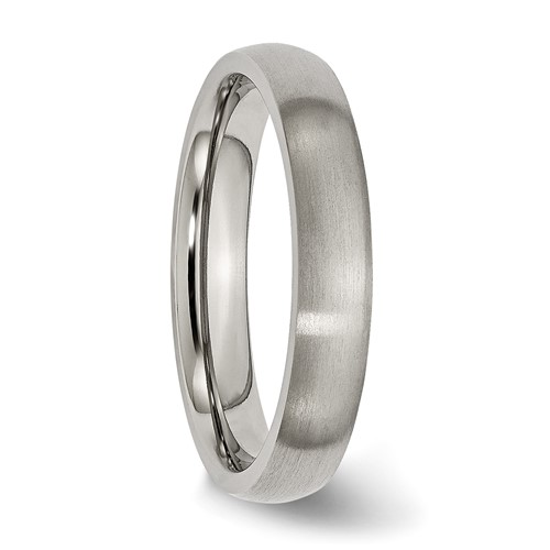 Chisel Titanium 4mm Brushed Comfort Fit Wedding Band