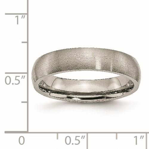 Chisel Titanium 5mm Brushed Comfort Fit Wedding Band
