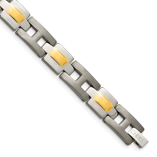 Chisel Titanium 24k Gold Plating Bracelet