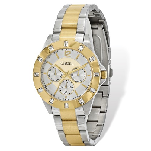 Mens Chisel IP-plated 2-tone Stainless Steel Silver Dial Watch