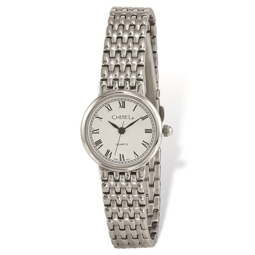 Ladies Chisel Stainless Steel White Dial Watch