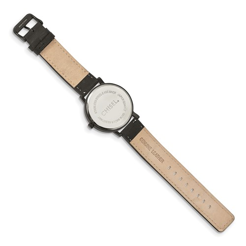 Chisel Matte Black IP-plated Red Dial Watch