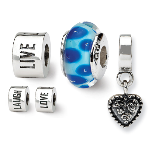 Reflection Beads Genuine Reflection Beads (TM) Bead Charm. Sterling Silver Reflections Live, Love, Laugh Boxed Bead Set. 100% Satisfaction Guaran at Sears.com