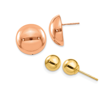 Ball, Button & Stud Earrings