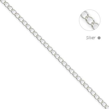 Half Round Wire Curb Chain