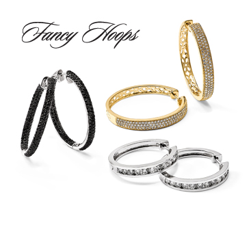 Fancy Diamond Hoops