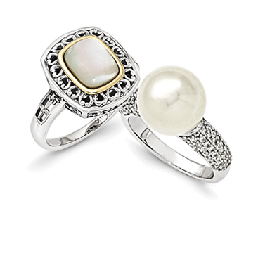 Shell Pearl Rings