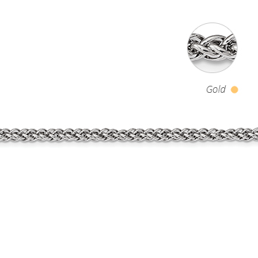 Semi Solid Oval Spiga (Wheat) Chain