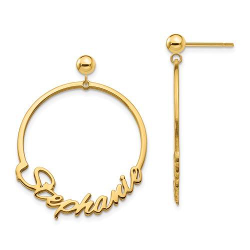 Name On Hoop Earring Series