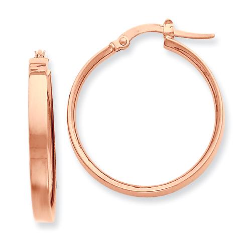 Vishal Jewelry 14K Yellow Gold  Plated Rose Rhodium Hoop Earrings at Sears.com