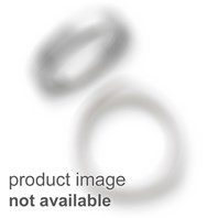 14k White Gold 8mm Domed Omega Necklace