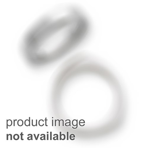 Stainless Steel Black Leather 8.5in Bracelet