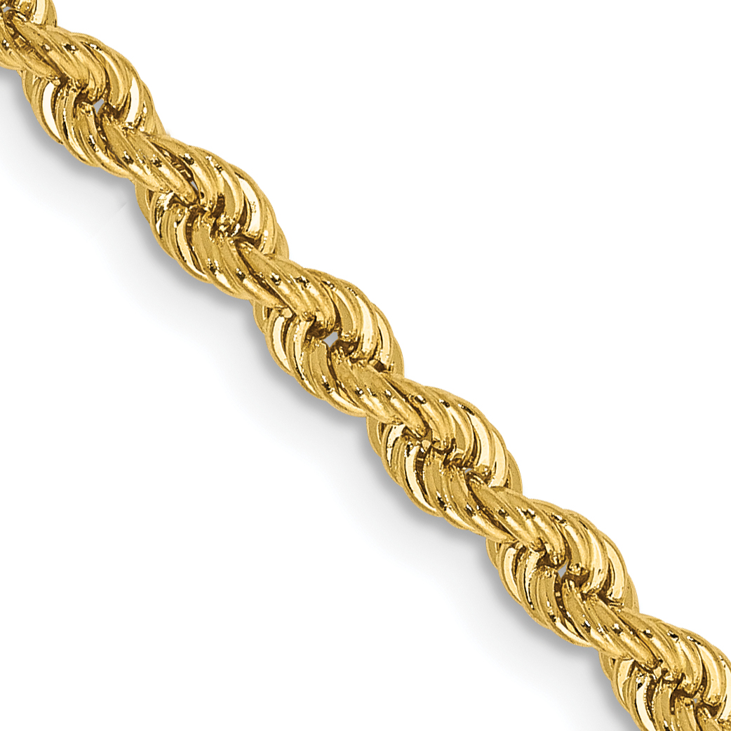 14K 30 Inch 2.75mm Handmade Regular Rope Chain