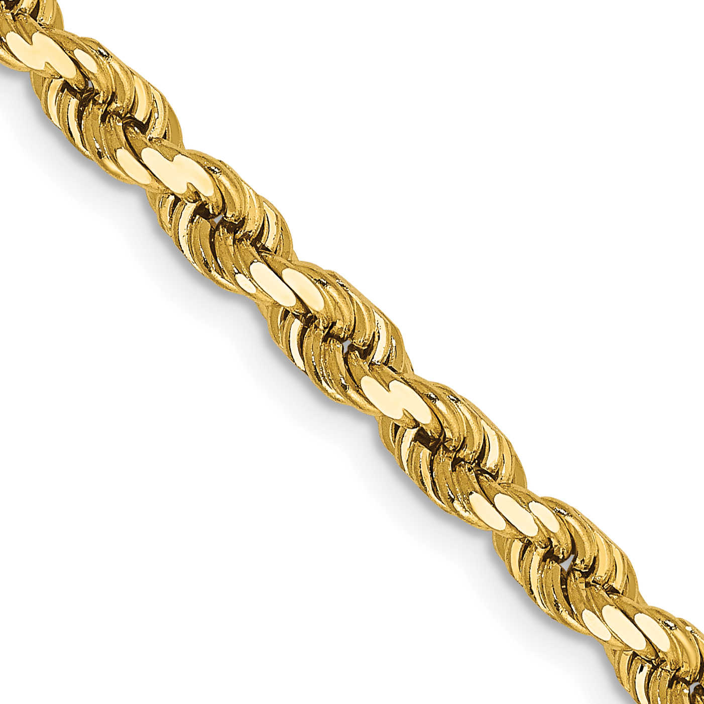 14k 4mm D/C Rope with Lobster Clasp Chain. Weight: 20.61,  Length: 16