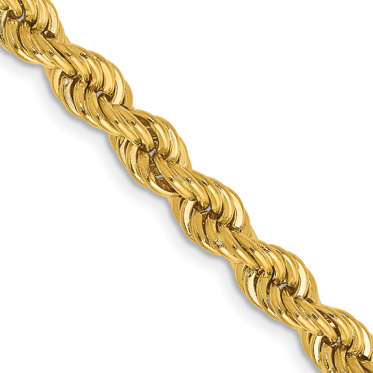 14k 18 Inch 5mm Handmade Regular Rope Chain