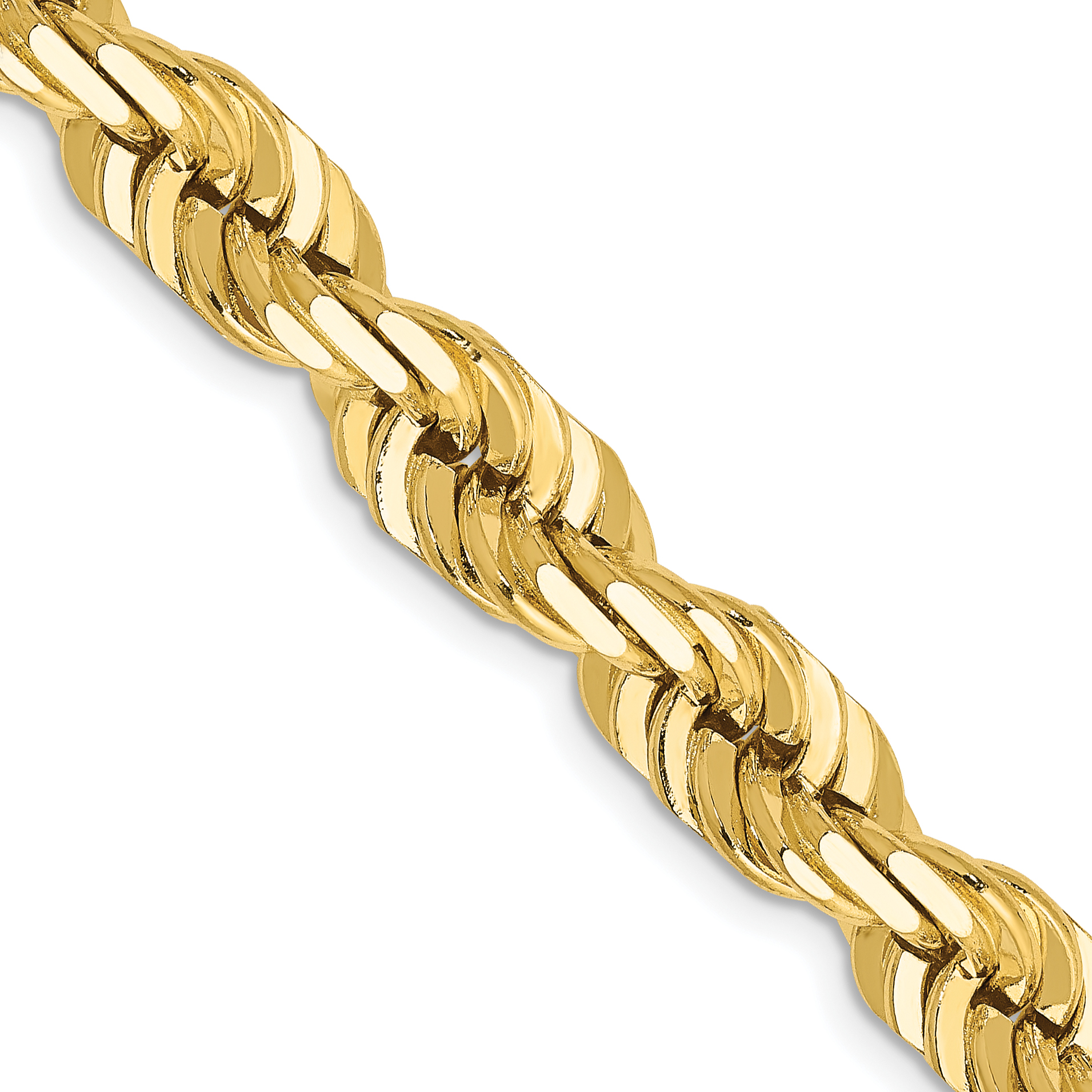 14k 7mm D/C Rope Chain. Weight: 84.83,  Length: 20