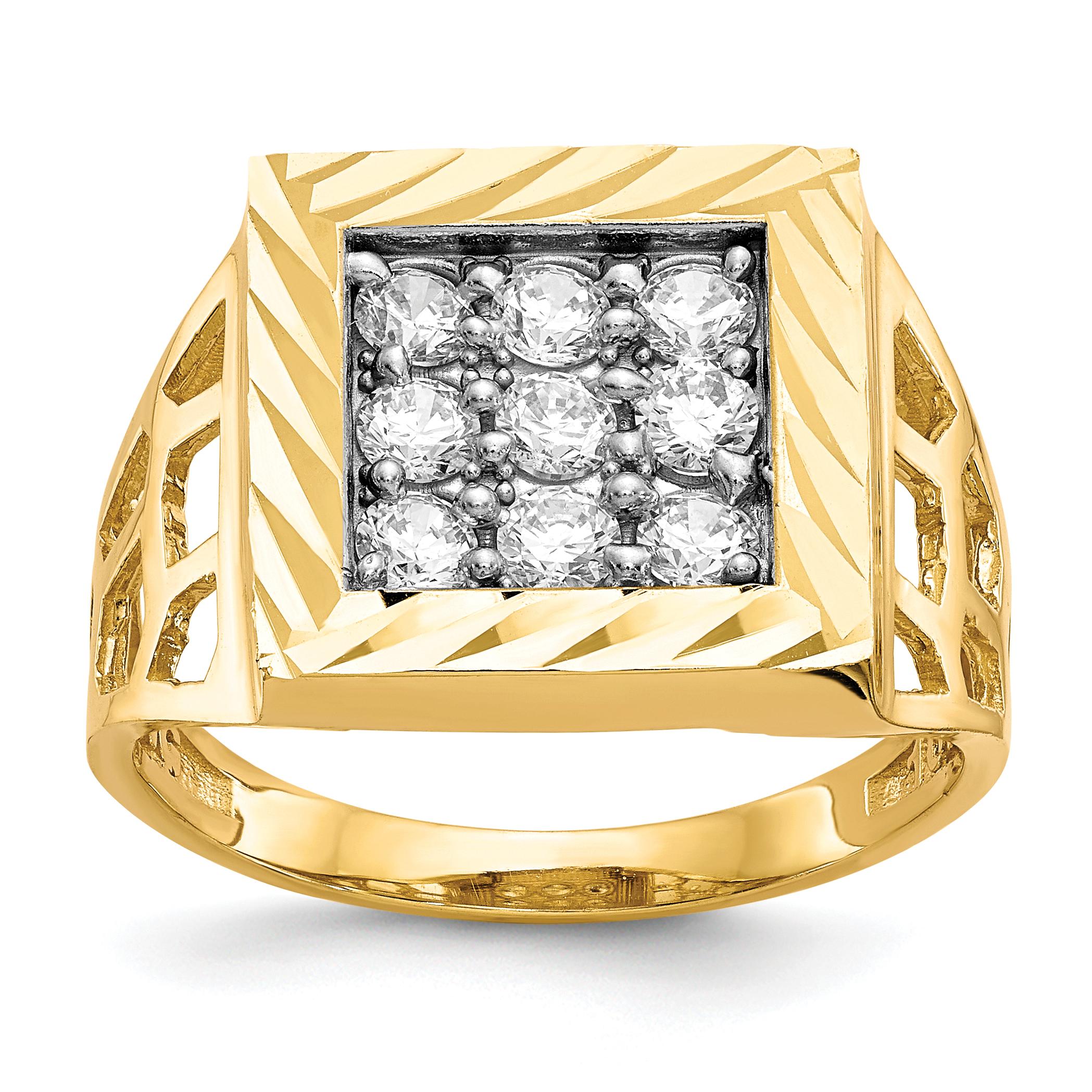 10k Men's CZ Ring