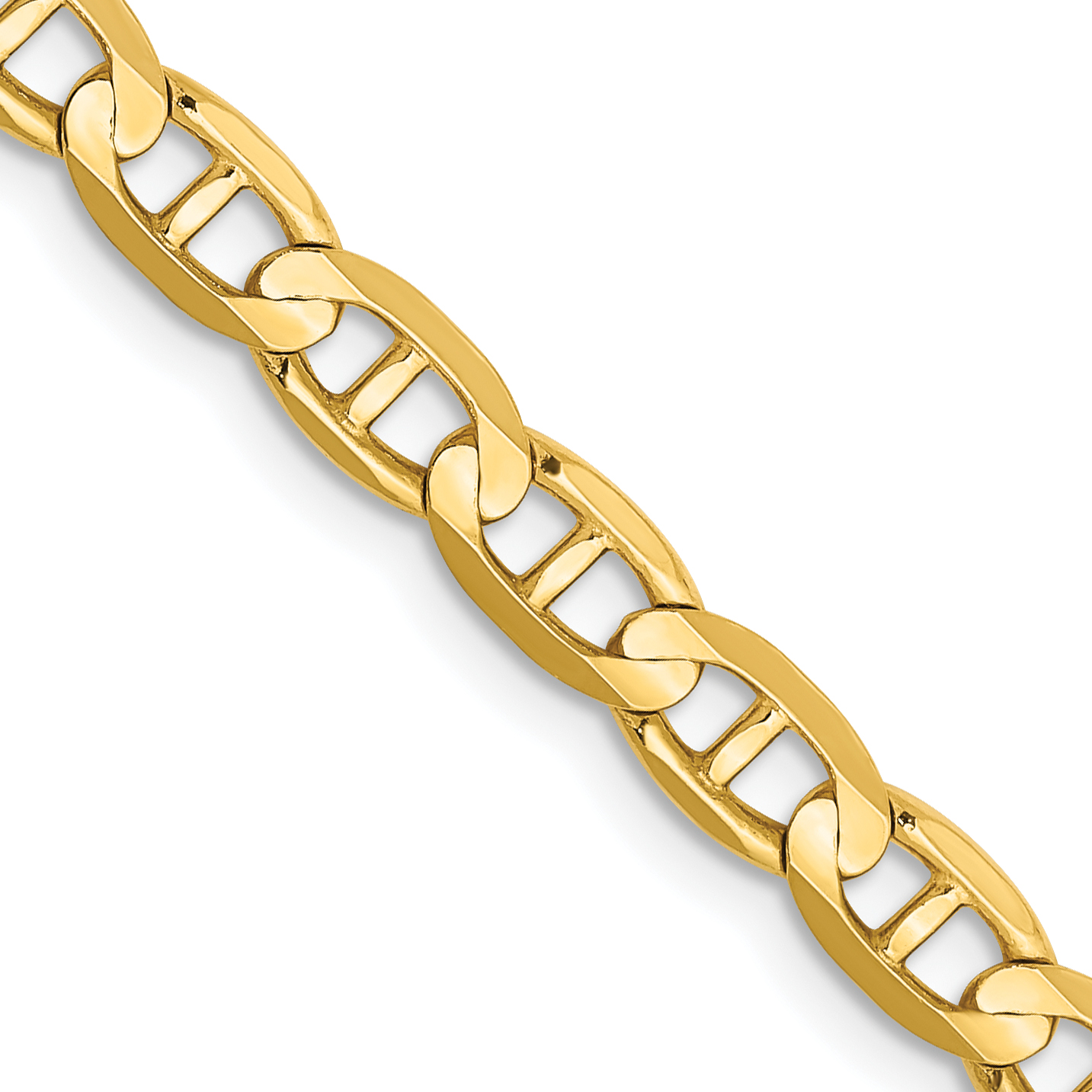 10k Gold 18 Inch 4.5mm Concave Anchor Chain