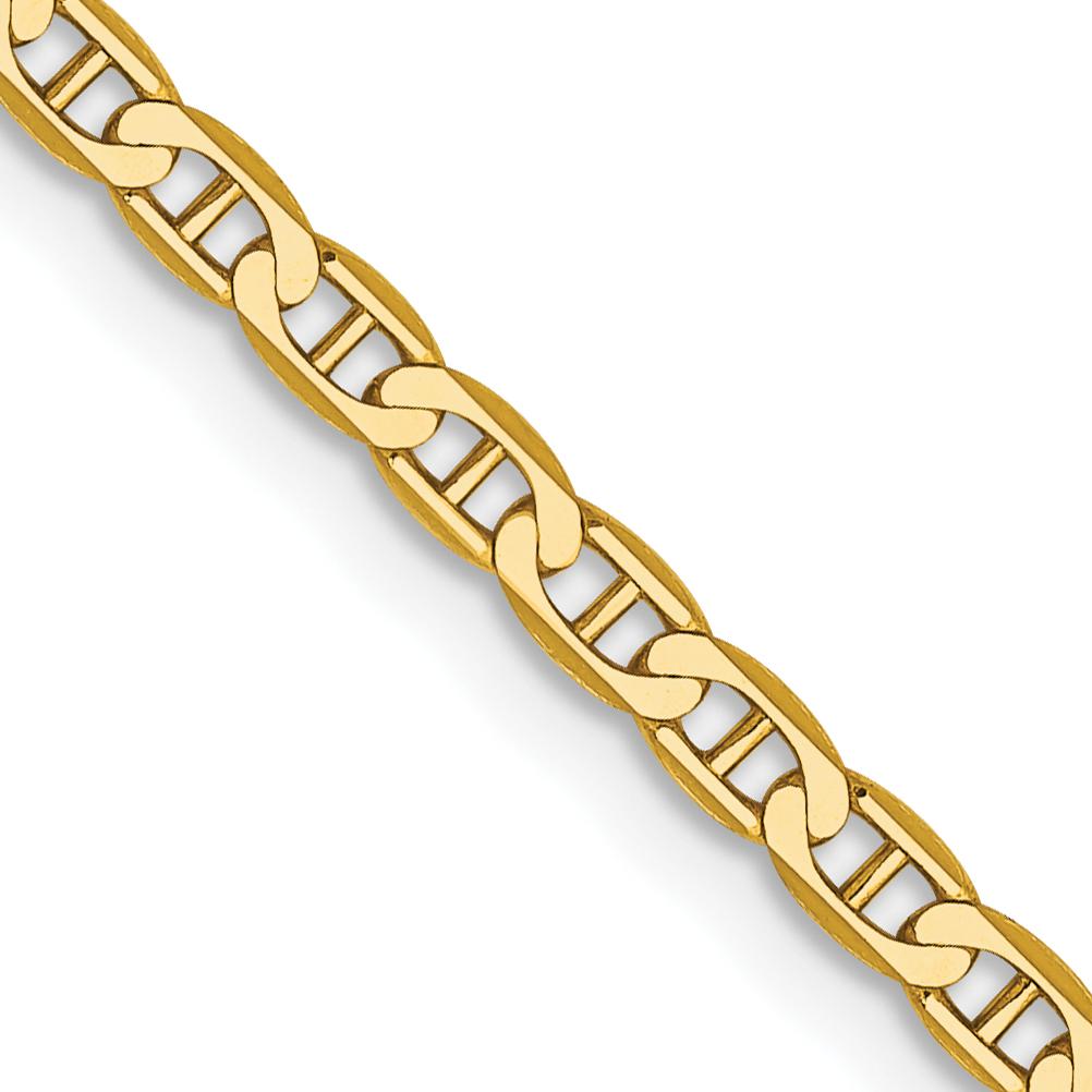 10k 2.4mm Flat Anchor Chain. Weight: 2.42,  Length: 10