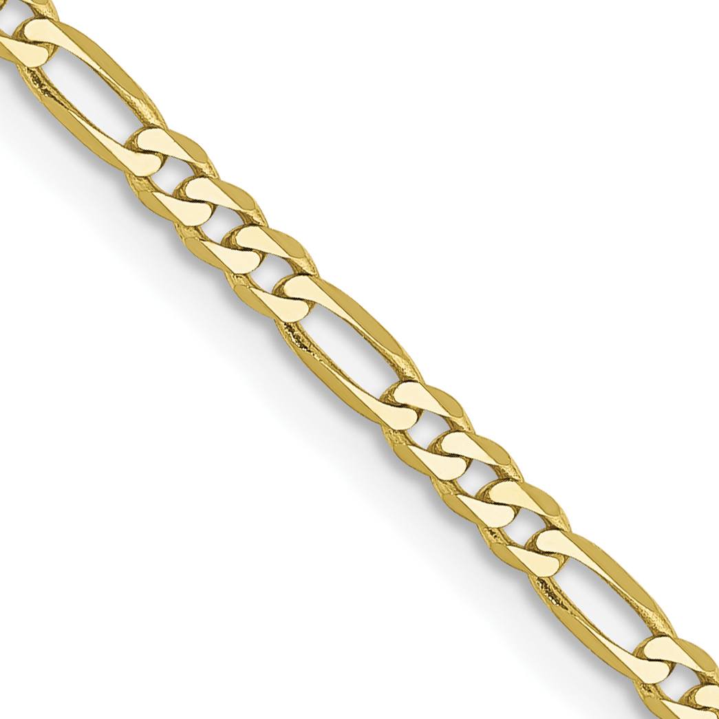 10k 2.2mm Figaro LINK Chain. Weight: 2.9,  Length: 16