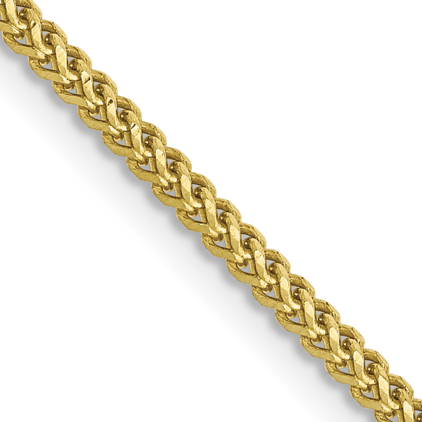 10k 1.3mm Franco Chain. Weight: 3.76,  Length: 16